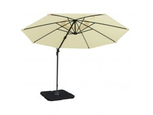 Royalcraft Ivory 3m Round Deluxe Rotational Cantilever Parasol