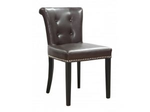 Shankar Sandringham Old Antique Brown Leather Accent Chair