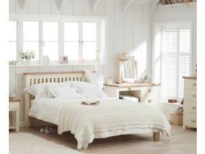 Sandringham Cream and Oak 4ft6 Wooden Double Bed