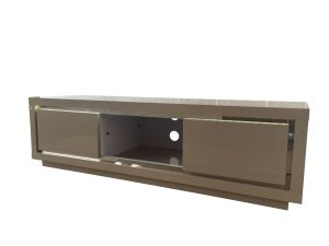 Fairmont Sardinia Cream High Gloss Entertainment Unit With LED