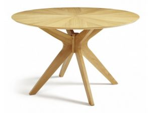 Serene Bexley Oak Round Dining Table