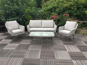 Royalcraft Seychelles 3 Seater Rattan Sofa Set with Coffee Table