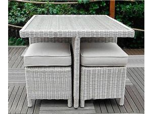 Royalcraft Seychelles 5pc 4 Seater Rattan Cube Dining Set