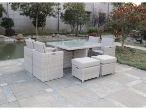 Royalcraft Seychelles 8 Seater Rattan Cube Dining  Set