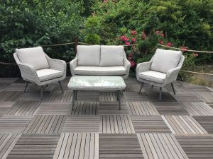 Royalcraft Seychelles 2 Seater Rattan Sofa Set with Coffee Table