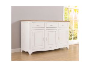 Sienna Acacia and Painted Ivory Sideboard