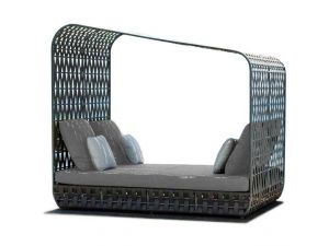Skyline Rattan Strips Cabana Day Bed