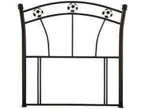 Serene Soccer 3ft Single Black Metal Headboard