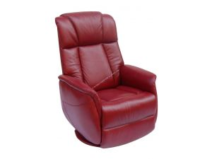Sorrento Ruby Red Leather Electric Recliner Armchair
