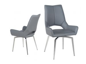 Fairmont Spinello Swivel Leather Dining Chairs