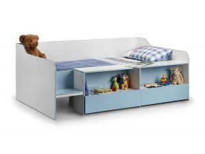 Julian Bowen Stella Low Sleeper Sky Blue 3ft Single Kid Bed