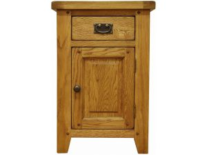 Stanley Oak Small Cupboard with Drawer
