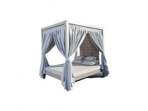 Skyline Strips Rattan Four Poster Day Bed