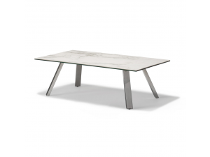 Stromboli White Marble Ceremic Top Coffee Table
