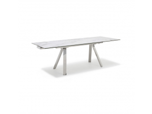 Stromboli White Extending Marble Dining Table