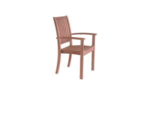 Westminster Sussex Teak Stacking Armchair Without Cushion