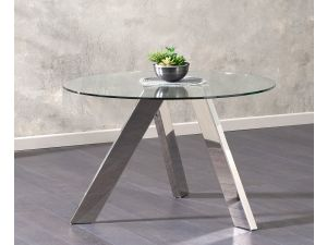 Tamzin 120cm Clear Glass Round Table