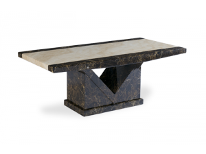 Toledo Brown and Cream Marble Effect Coffee Table