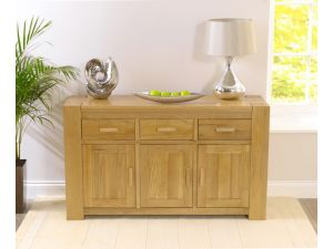 Tampa Solid Oak 3 Doors And 3 Drawers Sideboard