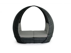 Maze Tulip Grey Rattan Daybed