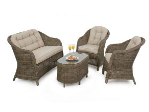 Maze 4pc Winchester Rattan Rounded 2 Seat High Back Sofa Set
