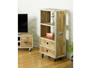 Roadie Chic Low Bookcase with drawers