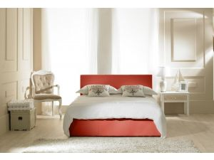 Emporia Madrid Red Faux Leather 5ft Kingsize Ottoman Bed