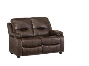Valencia 2 Seater Chestnut Leather Fixed Recliner Sofa