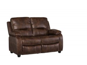 Valencia 2 Seater Dark Tan Leather Fixed Recliner Sofa