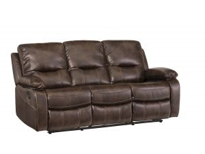 Valencia 3 Seater Chestnut Leather Recliner Sofa
