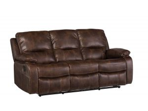 Valencia 3 Seater Dark Tan Leather Recliner Sofa