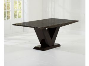 Valencie All Brown Constitued Marble Dining Table