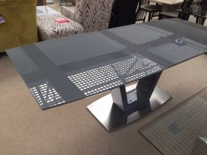 Fairmont Valente High Gloss Ext Dining Table Grey - 160-220cm