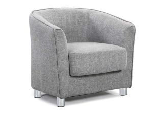 Vale Light Grey Fabric Tub Chair