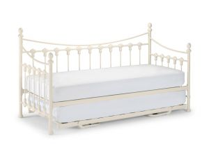 Julian Bowen Versailles 3ft Single White Metal Daybed + Underbed Bed