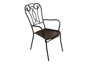 Europa Rattan Verona Black Chair