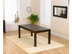 Verona Dark Brown Solid Oak Dining Table in a Fingerjoint Style Large