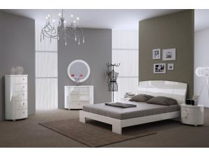 Vicky White High Gloss Wall Mirror