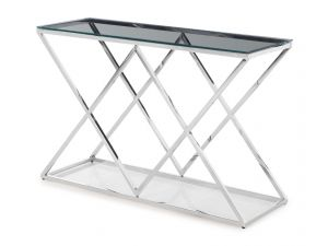 Fairmont Victor Clear Glass Console Table
