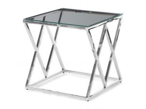 Fairmont Victor Clear Glass Side Table