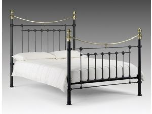 Julian Bowen Victoria 4ft6 Double Black Metal Bed
