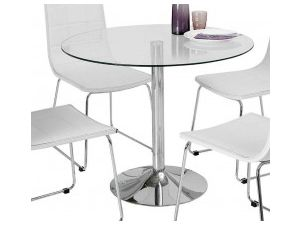 Orbit 100cm Clear Tempered Glass Dining Table