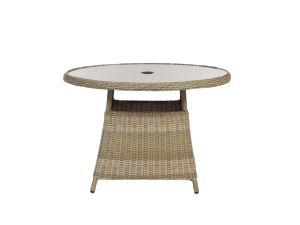 Royalcraft Wentworth 110cm Round Rattan Dining Table