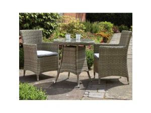 Royalcraft Wentworth Rattan 2 Seater Bistro Set With Carver Chairs