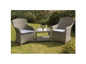 Royalcraft Wentworth Rattan Imperial 2 Seater Companion Set With Side Table