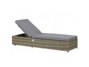 Royalcraft Wentworth Rattan Sun Lounger With Cushion