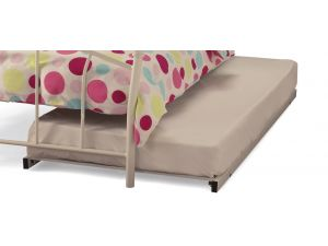 Serene 2ft6 Small Single Pink Metal Guest Bed