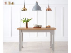 Windsor Solid Pine 120cm Painted Grey Rectangular Dining Table
