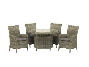 Royalcraft Modena 4 Seater Round Carver Dining Set