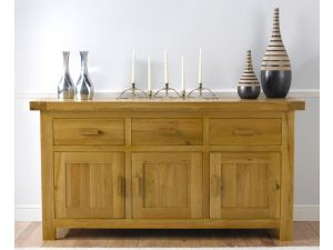 Avignon Solid Oak Sideboard 3 Doors 3 Drawers